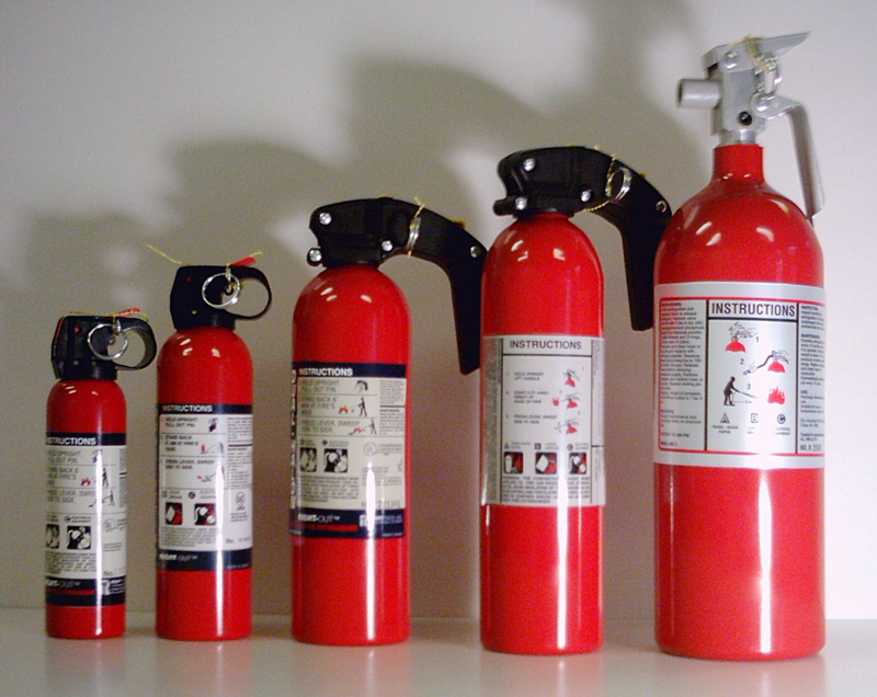 Aviation Fire Extnguishers - Liquefied Gas Portable Extinguishers